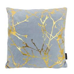 Velvet Marble Lightblue | 45 x 45 cm | Kussenhoes | Polyester