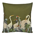 Chinese Cranes | 45 x 45 cm | Kussenhoes | Katoen/Linnen