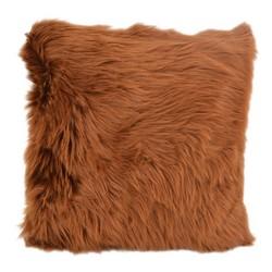 Cognac Brown Fur | 45 x 45 cm | Kussenhoes | Polyester