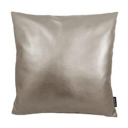 Metallic Champagne | 45 x 45 cm | Kussenhoes | PU Leder