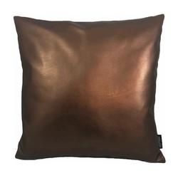 Metallic Copper | 45 x 45 cm | Kussenhoes | PU Leder