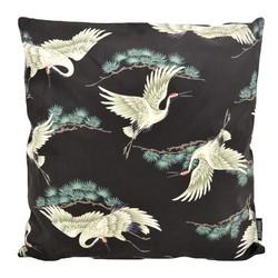 Kraanvogel #1 | 45 x 45 cm | Kussenhoes | Katoen/Polyester
