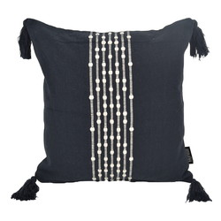 Boho Kaya Black | 40 x 40 cm | Kussenhoes | Katoen