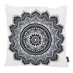 Black Mandala Lotus | 45 x 45 cm | Kussenhoes | Katoen