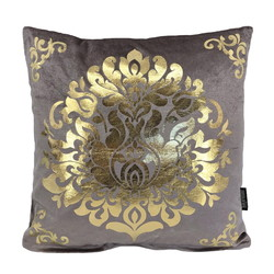Oriental Grey-Lilac / Gold | 45 x 45 cm | Kussenhoes | Polyester