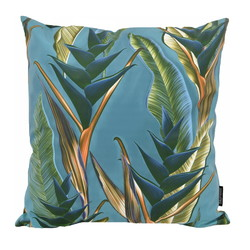 Blue / Green Heliconia | 45 x 45 cm | Kussenhoes | Katoen