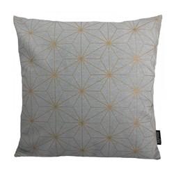 Nadal Grey / Gold | 45 x 45 cm | Kussenhoes | Katoen
