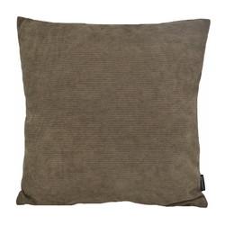 Coco Coffee Ribfluweel | 45 x 45 cm | Kussenhoes | Ribfluweel