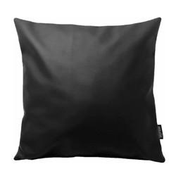 Cuir Black | 45 x 45 cm | Kussenhoes | PU Leder