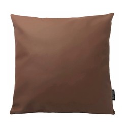 Cuir Brown | 45 x 45 cm | Kussenhoes | PU Leder