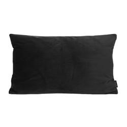 Velvet Zwart Long | 30 x 50 cm | Kussenhoes | Polyester