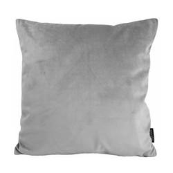 Velvet Zilvergrijs | 45 x 45 cm | Kussenhoes | Polyester