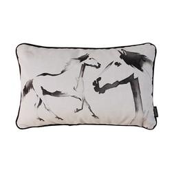 Velvet Two Horses | 30 x 50 cm | Kussenhoes | Velvet/Polyester