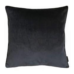 Velvet Piped Zwart | 45 x 45 cm | Kussenhoes | Polyester