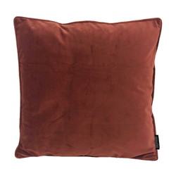Velvet Piped Roest | 45 x 45 cm | Kussenhoes | Polyester