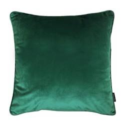 Velvet Piped Donkergroen | 45 x 45 cm | Kussenhoes | Polyester
