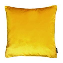 Velvet Piped Donkergeel | 45 x 45 cm | Kussenhoes | Polyester