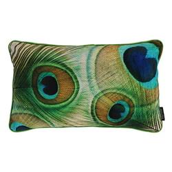 Velvet Peacock Feathers | 30 x 50 cm | Kussenhoes | Velvet/Polyester