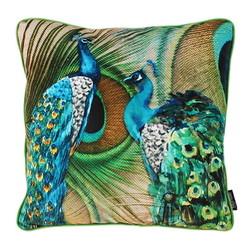 Velvet Peacock | 45 x 45 cm | Kussenhoes | Velvet/Polyester