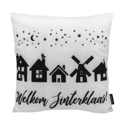 Welkom Sinterklaas! | 45 x 45 cm | Kussenhoes | Katoen/Polyester