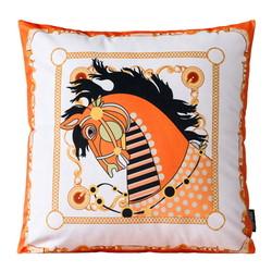 Velvet Ornamental Horse | 45 x 45 cm | Kussenhoes | Polyester
