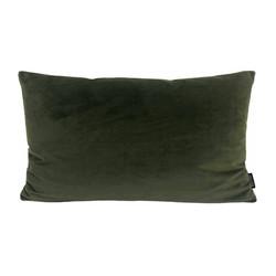 Velvet Legergroen Long   30 x 50 cm   Kussenhoes   Polyester