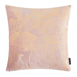 Velvet Leaves Roze | 45 x 45 cm | Kussenhoes | Polyester