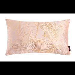 Velvet Leaves Long Roze | 30 x 50 cm | Kussenhoes | Polyester
