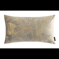Velvet Leaves Long Grijs | 30 x 50 cm | Kussenhoes | Polyester