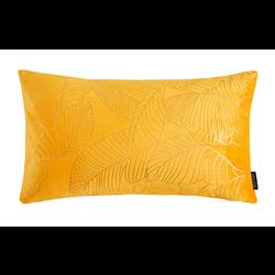 Velvet Leaves Long Geel | 30 x 50 cm | Kussenhoes | Polyester