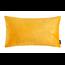 Velvet Leaves Long Geel | 30 x 50 cm | Kussenhoes | Velvet/Polyester