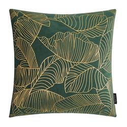 Velvet Leaves Groen | 45 x 45 cm | Kussenhoes | Polyester