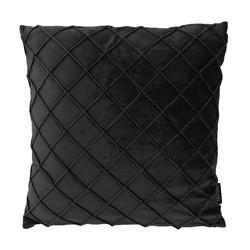 Velvet Cross Zwart | 45 x 45 cm | Kussenhoes | Velvet/Polyester