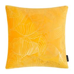 Velvet Leaves Geel | 45 x 45 cm | Kussenhoes | Polyester