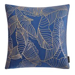 Velvet Leaves Blauw | 45 x 45 cm | Kussenhoes | Polyester