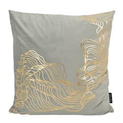 Velvet Isis Grey   45 x 45 cm   Kussenhoes   Polyester