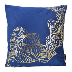 Velvet Isis Blue | 45 x 45 cm | Kussenhoes | Polyester
