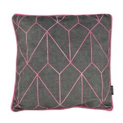 Velvet Graphic Pink | 45 x 45 cm | Kussenhoes | Velvet/Polyester