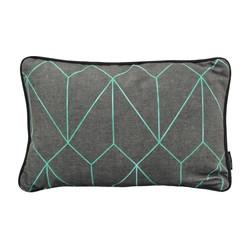 Velvet Graphic Green | 30 x 50 cm | Kussenhoes | Velvet/Polyester