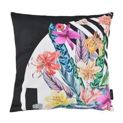 Velvet Graphic Flowers | 45 x 45 cm | Kussenhoes | Velvet/Polyester