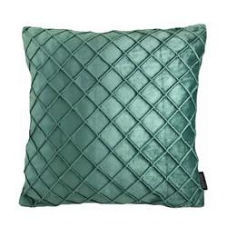 Velvet Cross Groen | 45 x 45 cm | Kussenhoes | Velvet/Polyester