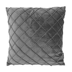 Velvet Cross Grijs | 45 x 45 cm | Kussenhoes | Velvet/Polyester