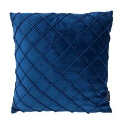 Velvet Cross Donkerblauw | 45 x 45 cm | Kussenhoes | Velvet/Polyester