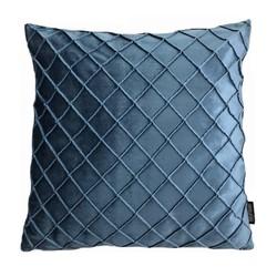 Velvet Cross Blauw | 45 x 45 cm | Kussenhoes | Velvet/Polyester