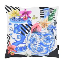 Velvet Blue Art | 45 x 45 cm | Kussenhoes | Velvet/Polyester
