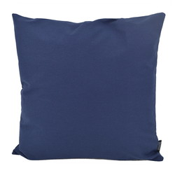 Florea Uni Donkerblauw | 45 x 45 cm | Kussenhoes | Katoen