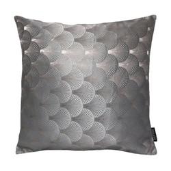 Jacquard Shell Zilvergrijs | 45 x 45 cm | Kussenhoes | Jacquard