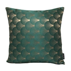 Jacquard Shell Groen | 45 x 45 cm | Kussenhoes | Jacquard