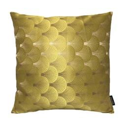 Jacquard Shell Goud / Geel | 45 x 45 cm | Kussenhoes | Jacquard