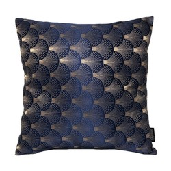 Jacquard Shell Blauw | 45 x 45 cm | Kussenhoes | Jacquard
